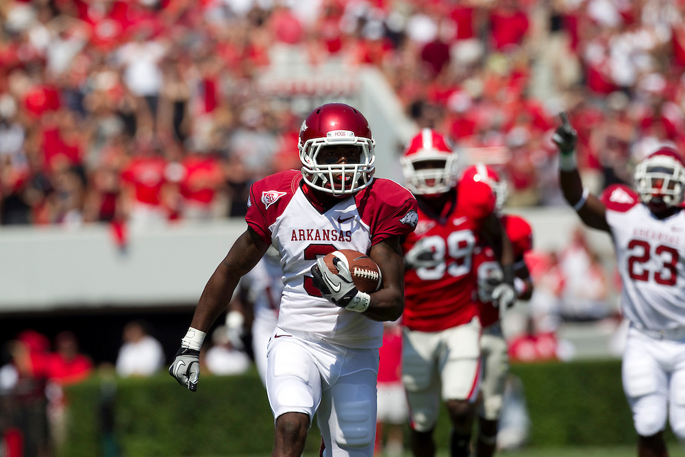 University of Arkansas Razorback 2010-2011 Football Team action photos....©Wesley Hitt.All Rights Reserved.501-258-0920.