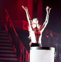 "Taylor Swift performs during her ""RED"" tour on August 30, 2013 at the Moda Center in Portland, Oregon"