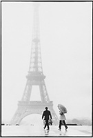 The Eiffel Tower in the rain - Photograph by Owen Franken