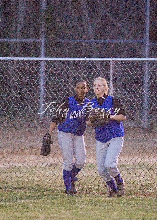MCHS Varsity Girls Softball.vs Orange.March 16, 2006