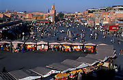 The Djemaa el Fna, or main square of Marrakesh