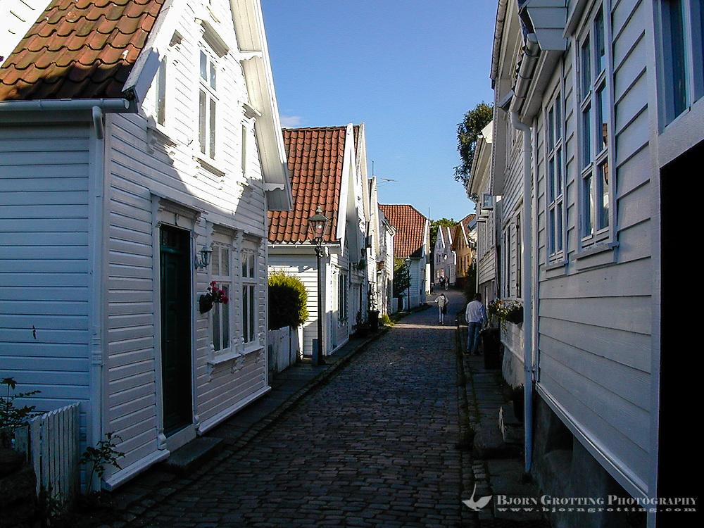 Norway, Stavanger. Gamle Stavanger, Old Stavanger, consists of 173 old wooden houses.