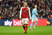 Jack Wilshere (10) of Arsenal during the EFL Cup Final match between Arsenal and Manchester City at Wembley Stadium, London, England on 25 February 2018. Picture by Graham Hunt.