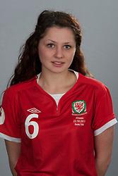 TREFOREST, WALES - Tuesday, February 14, 2011: Wales' Leanne Jones. (Pic by David Rawcliffe/Propaganda)