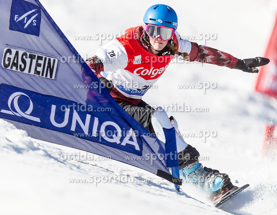 12.01.2014, Bucheben Piste, Bad Gastein, AUT, FIS Snowboard Weltcup, Parallelslalom, im Bild Marianne Leeson (CAN) // Marianne Leeson (CAN) during parallel Slalom of the FIS Snowboard Worldcup at the Bucheben Course, Bad Gastein, Austria on 2014/01/12. EXPA Pictures © 2014, PhotoCredit: EXPA/ JFK
