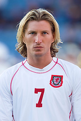 OSLO, NORWAY - Wednesday, September 5, 2001: Wales' Robbie Savage during the FIFA World Cup 2002 Qualifying Group 5 match against Norway at the Ullevaal Stadion. (Pic by David Rawcliffe/Propaganda)