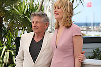 Director Roman Polanski, Actress Emmanuelle Seigner at Venus in Fur - La Venus A La Fourrure Photocall Cannes Film Festival On Saturday 26th May May 2013