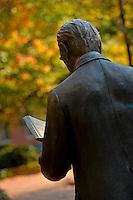 The Strolling Professor stands idle in Gardner Arbortum on North Campus.