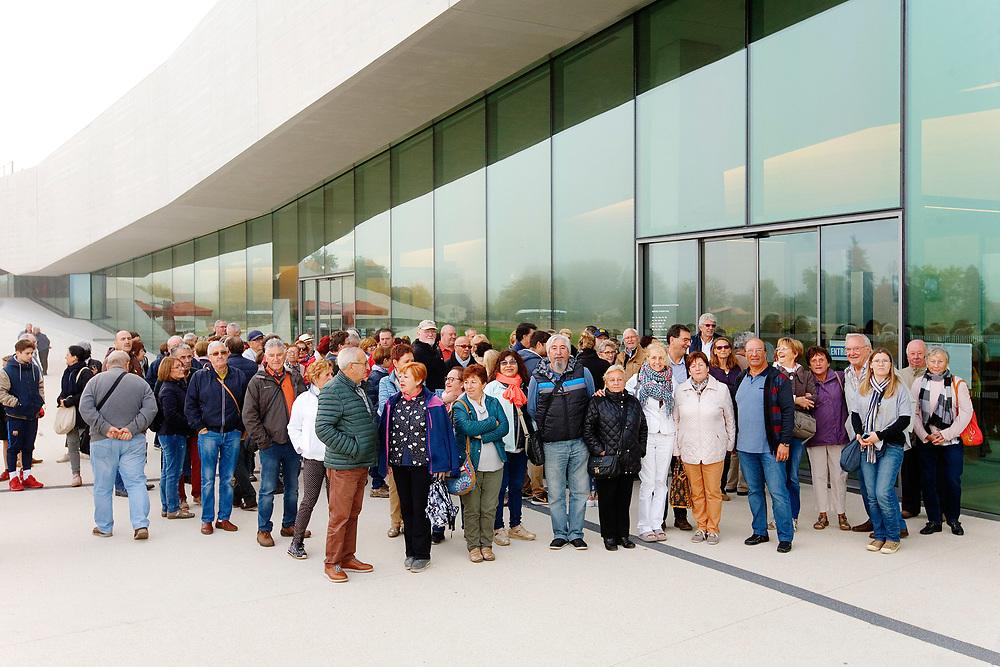 Visite lors de la visite des Espagnols de Puente-Viesgo, jumelés avec Les Eyzies