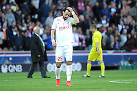 Deception Marko BASA - 25.04.2015 - Paris Saint Germain / Lille - 34eme journee de Ligue 1<br />