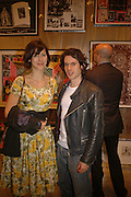 Sophie Hunter and Nick Hackworth, Tal R. Minus. Victoria Miro Gallery. 13 May 2006. ONE TIME USE ONLY - DO NOT ARCHIVE  © Copyright Photograph by Dafydd Jones 66 Stockwell Park Rd. London SW9 0DA Tel 020 7733 0108 www.dafjones.com