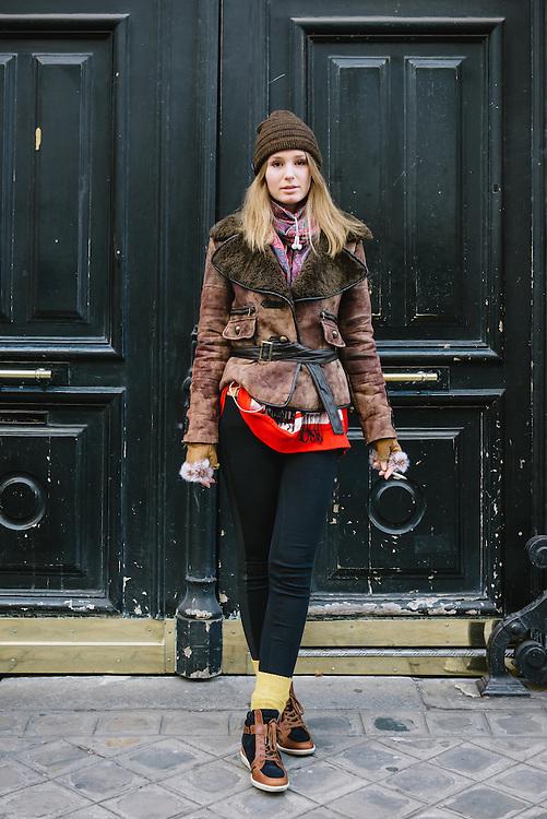 A trendy girl in Paris