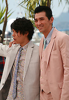 Actors Nijiro Murakami and Jun Murakami at the photo call for the film Still The Water (Futatsume No Mado), at the 67th Cannes Film Festival, Tuesday 20th May 2014, Cannes, France.