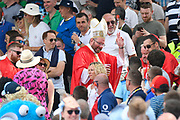 Fans dressed as a bishop and priests in the Hollies stand during the International Test Match 2019 match between England and Australia at Edgbaston, Birmingham, United Kingdom on 3 August 2019.