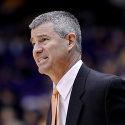 December 10, 2011; Baton Rouge, LA; Boise State Broncos head coach Leon Rice against the LSU Tigers during the first half of a game at the Pete Maravich Assembly Center.  Mandatory Credit: Derick E. Hingle-US PRESSWIRE