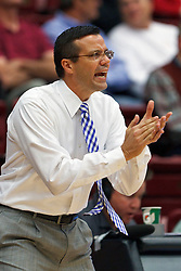 Nov 15, 2011; Stanford CA, USA;  Colorado State Rams head coach Tim Miles on the sidelines against the Stanford Cardinal during the first half of a preseason NIT game at Maples Pavilion. Stanford defeated Colorado State 64-52. Mandatory Credit: Jason O. Watson-US PRESSWIRE