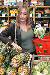 Portrait of white woman shopping. Cleared for Mental Health issues.