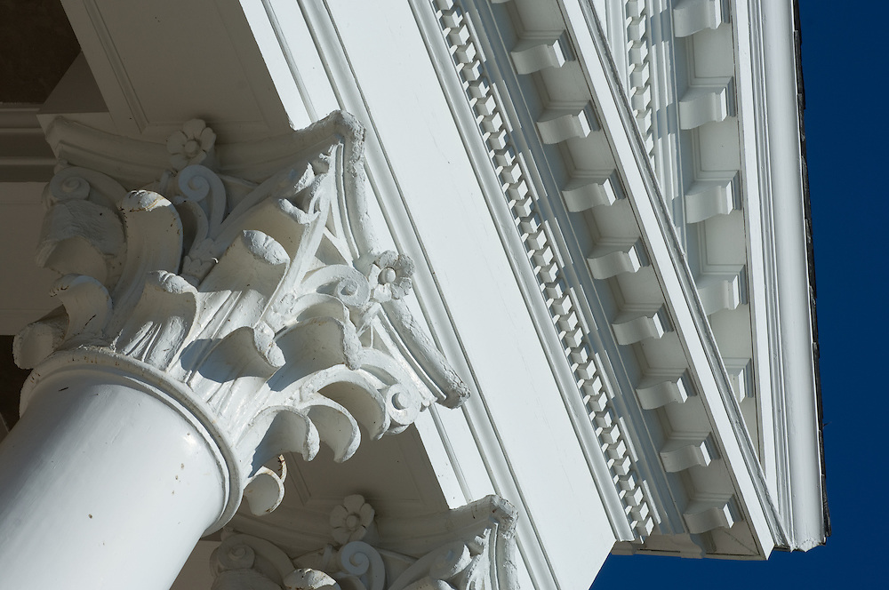 Roof top and column building detail