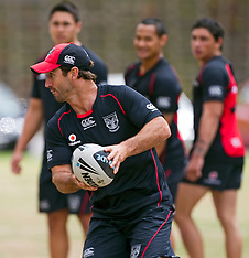 Auckland-Rugby League-Andrew Johns holds skills training session at Vodafone Warriors