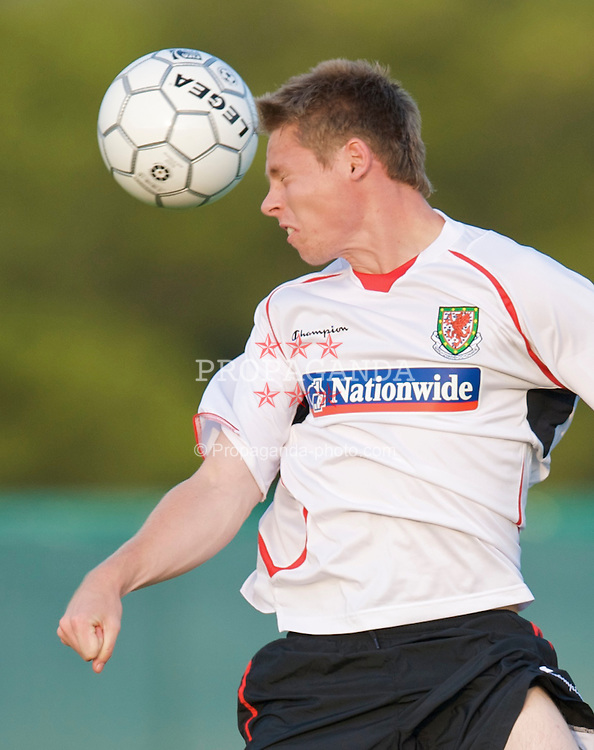 PODGORICA, MONTENEGRO - Monday, August 10, 2009: Wales' Simon Church during a training session ahead of the international friendly match against Montenegro. (Photo by David Rawcliffe/Propaganda)