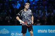 Switzerland's Stan Wawrinka during the Semi Final of Barclays ATP World Tour 2014 between Switzerland's Roger Federer and Switzerland's Stan Wawrinka, O2 Arena, London, United Kingdom on 15th November 2014 © Pro Sports Images