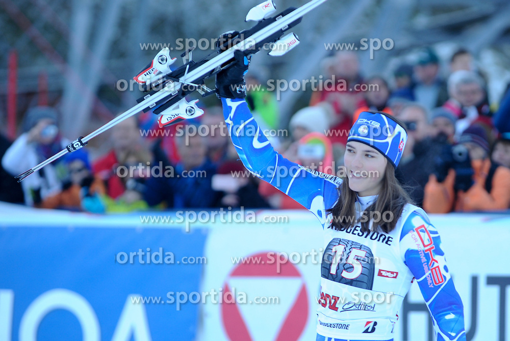 29.12.2015, Hochstein, Lienz, AUT, FIS Weltcup Ski Alpin, Lienz, Slalom, Damen, 2. Durchgang, im Bild Petra Vlhova (SVK) // Petra Vlhova of Slovakia reacts after 2nd run of ladies Slalom of the Lienz FIS Ski Alpine World Cup at the Hochstein in Lienz, Austria on 2015/12/29. EXPA Pictures © 2015, PhotoCredit: EXPA/ Erich Spiess