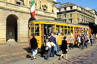 Tramway in front of Scala theater - Milan - Lombardia - Italy