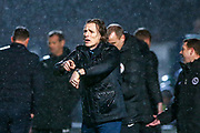 Wycombe Wanderers manager Gareth Ainsworth signals to the referee he thinks its time during the EFL Sky Bet League 1 match between Wycombe Wanderers and Plymouth Argyle at Adams Park, High Wycombe, England on 26 January 2019.