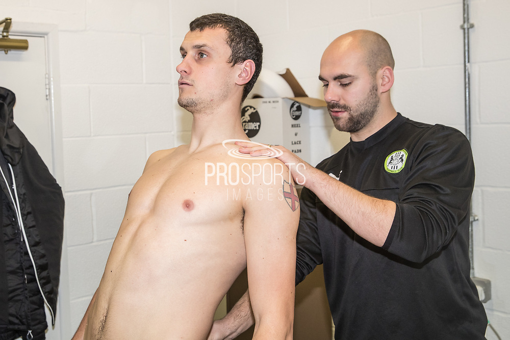 Haydn Hollis signs for Forest Green Rovers at the New Lawn, Forest Green, United Kingdom on 9 January 2018. Photo by Shane Healey.