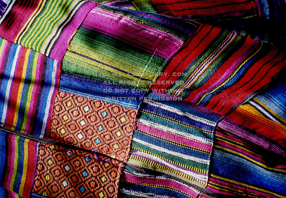 Image of colorful blankets in Mazatlan, Mexico
