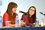 Queens College panel discussion: Women, Technology and Internet Culture, 3/16/15. Speakers Holly Jacobs and Amanda Filipacchi.