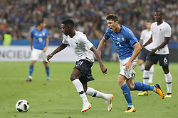 June 1, 2018 - Paris, Ile-de-France, France - Ousmane Dembl (France) and Mattia Caldara (Italy) competes for the ball during the friendly football match between France and Italy at Allianz Riviera stadium on June 01, 2018 in Nice, France..France won 3-1 over Italy. (Credit Image: © Massimiliano Ferraro/NurPhoto via ZUMA Press)