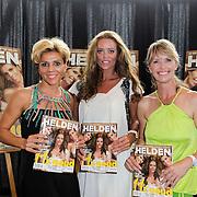 NLD/Ridderkerk/20120628 - Presentatie blad Helden 14, Inge de Bruin, dressuurrijdster Anky van Grunsven, Leontien Zijlaard - van Moorsel