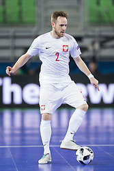 Michal Kubik of Poland during futsal match between Russia and Poland at Day 1 of UEFA Futsal EURO 2018, on January 30, 2018 in Arena Stozice, Ljubljana, Slovenia. Photo by Urban Urbanc / Sportida