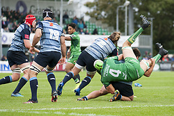 September 23, 2017 - Galway, Ireland - Ultan Dillane (4) of Connacht pictured in action during the Guinness PRO14 Conference A match between Connacht Rugby and Cardiff Blues at the Sportsground in Galway, Ireland on September 23, 2017  (Credit Image: © Andrew Surma/NurPhoto via ZUMA Press)