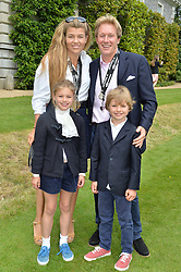 AMBER NUTTALL and ALISTAIR GOSLING and his children AMELIE & CHARLES GOSLING at the Cartier hosted Style et Lux at The Goodwood Festival of Speed at Goodwood House, West Sussex on 26th June 2016.