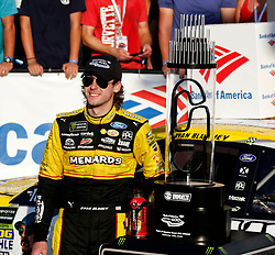 September 30, 2018 - Charlotte, NC, U.S. - CHARLOTTE, NC - SEPTEMBER 30: #12: Ryan Blaney, Team Penske, Ford Fusion Menards/Pennzoil during the running of the  Bank of America ROVAL 400 on Sunday September 30, 2018 at Charlotte Motor Speedway in Concord North Carolina  (Photo by Jeff Robinson/Icon Sportswire) (Credit Image: © Jeff Robinson/Icon SMI via ZUMA Press)