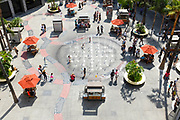 People Hanging At The Courtyard At Hollywood And Highland Center Shopping Mall