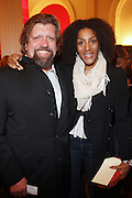 l to r: Oskar Eustis and Sarah Jones at The Opening for Spike Lee's theater production of  ' County of Kings' held at The Publc Theater on October  12, 2009