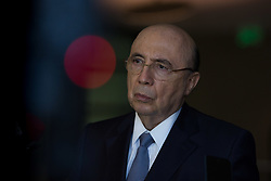 August 3, 2017 - Sao Paulo, Sao Paulo, Brazil - Brazilian Finance Minister HENRIQUE MEIRELLES gives a press conference during the 4th Annual Macroeconomics Conference in Brazil, organized by Goldman Sachs Bank, at the Hotel Unique in Sao Paulo (SP), on Thursday (3) (Credit Image: © Paulo Lopes via ZUMA Wire)