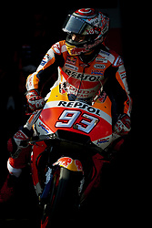 September 22, 2018 - Alcaniz, Teruel, Spain - Marc Marquez (93) of Spain and Repsol Honda Team during qualifying for the Gran Premio Movistar de Aragon of world championship of MotoGP at Motorland Aragon Circuit on September 22, 2018 in Alcaniz, Spain. (Credit Image: © Jose Breton/NurPhoto/ZUMA Press)