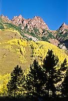 Sievers Mountain during the autumn season.  Elk Mountains, Colorado.
