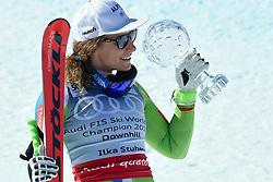 15.03.2017, Aspen, USA, FIS Weltcup Ski Alpin, Finale 2017, Abfahrt, Damen, Siegerpräsentation, im Bild Ilka Stuhec (SLO, 1. Platz und Abfahrts-Weltcupsiegerin) // race winner and Downhill World Cup winner Ilka Stuhec of Slovenia during the winner presentation for the ladie's downhill of 2017 FIS ski alpine world cup finals. Aspen, United Staates on 2017/03/15. EXPA Pictures © 2017, PhotoCredit: EXPA/ Erich Spiess