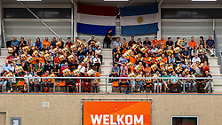 08-09-2018 NED: Netherlands - Argentina, Ede<br /> Second match of Gelderland Cup / Support, fans in Cees van der Knaaphal | Ede Stad