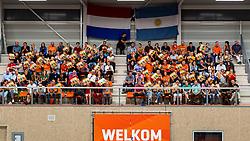 08-09-2018 NED: Netherlands - Argentina, Ede<br /> Second match of Gelderland Cup / Support, fans in Cees van der Knaaphal | Ede Stad