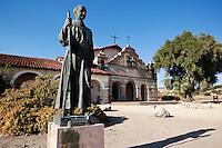 Fray Junipero Serra Statue in Front of Mission San Antonio De Padua, California