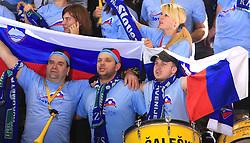 Fans of Slovenia at handball match of 5th Round of qualifications for EHF Euro 2010 in Austria between National team of Slovenia vs Bulgaria, on November 30, 2008 in Velenje, Slovenia. (Photo by Vid Ponikvar / Sportida)