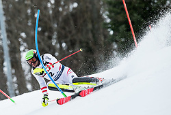 "Michael Matt (AUT) competes during 1st Run of FIS Alpine Ski World Cup 2017/18 Men's Slalom race named ""Snow Queen Trophy 2018"", on January 4, 2018 in Course Crveni Spust at Sljeme hill, Zagreb, Croatia. Photo by Vid Ponikvar / Sportida"