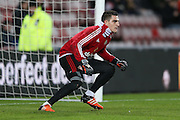 Sunderland goalkeeper Vito Mannone  during the Barclays Premier League match between Sunderland and Liverpool at the Stadium Of Light, Sunderland, England on 30 December 2015. Photo by Simon Davies.