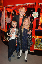 Natalia Vodianova's children LUCAS PORTMAN, VIKTOR PORTMAN, NEVA PORTMAN at 'The World's First Fabulous Fund Fair' in aid of the Naked Heart Foundation hosted by Natalia Vodianova and Karlie Kloss at The Roundhouse, Chalk Farm Road, London on 24th February 2015.